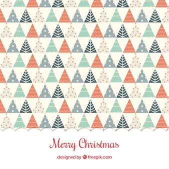 幾何学的なクリスマスツリーの背景
