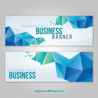 Geometrical company card in modern style