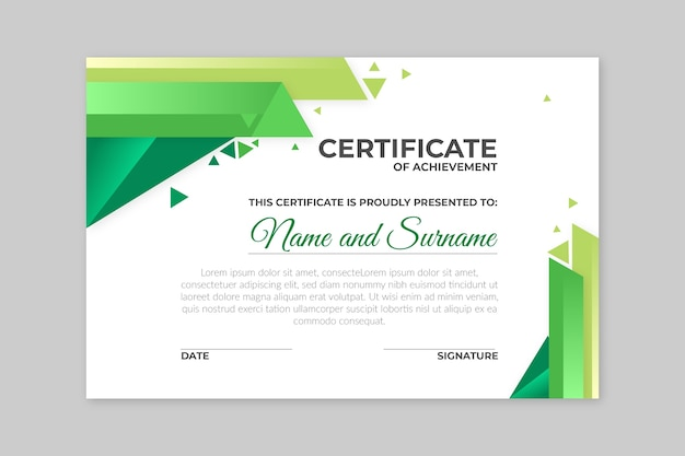 Geometrical concept for certificate