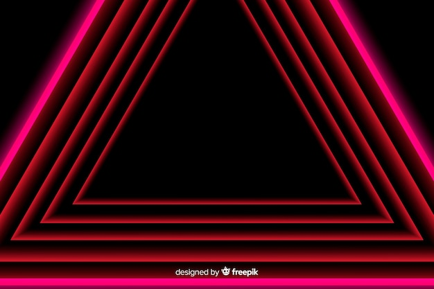 Geometrical design in red light lines