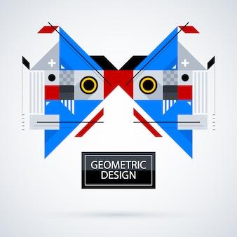 Geometrical face background design