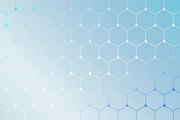 Sfondo blu con motivo geometrico a nido d'ape