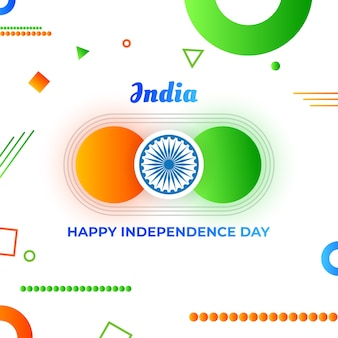 Geometrical INDIA Independence Day Flyer Wish