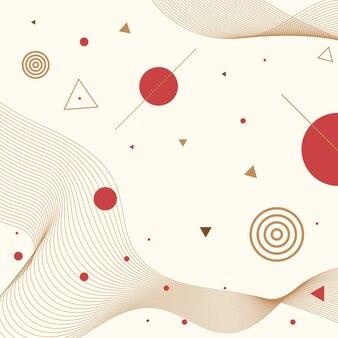 Geometrical japan abstract backgroud  vector eps.10