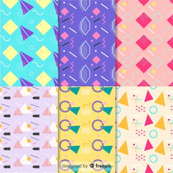 Geometrical and memphis pattern collection