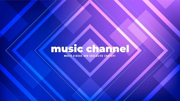 Геометрическая музыка youtube channel art