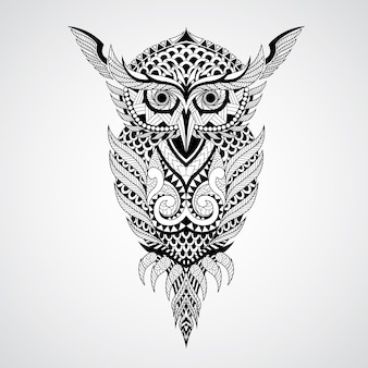 Geometrical owl design background