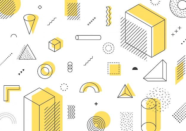 Webdesignの幾何学模様。図。