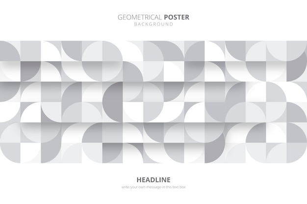 Geometrical poster template