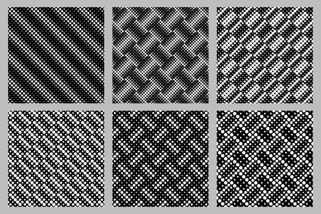 Geometrical seamless circle pattern background design set