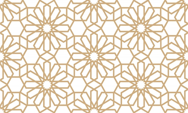 Geometrical seamless pattern in arabian style
