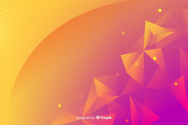 Geometrical shapes background concept