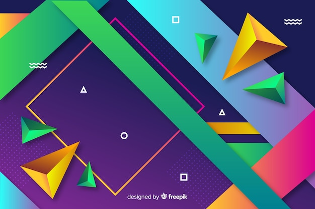 Geometrical shapes background design