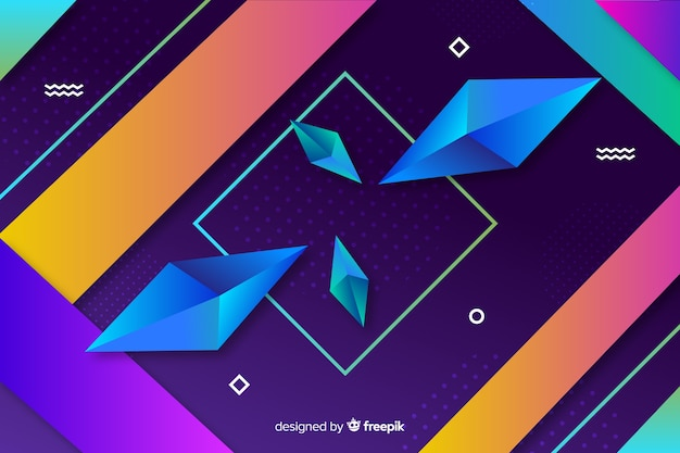 Geometrical shapes concept for background