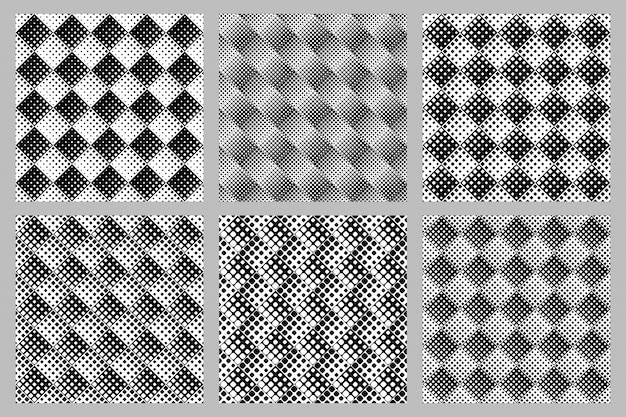 Geometrical square pattern background set - abstract vector designs