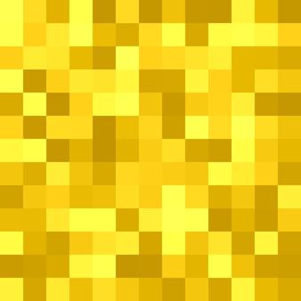 Геометрический квадратный плиточный фон - векторный графический дизайн с квадратов в золотых тонах