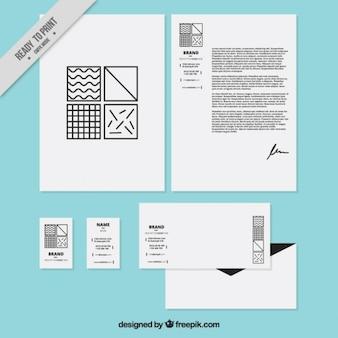 Geometrical squares company stationery
