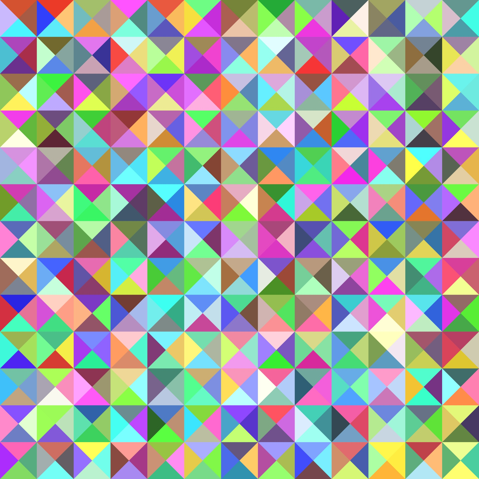 Geometrical triangle tiled pattern background - vector graphic from triangles in colorful tones
