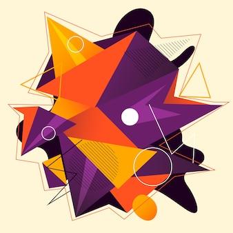 Произведение геометрии с простой формой и фигурой.