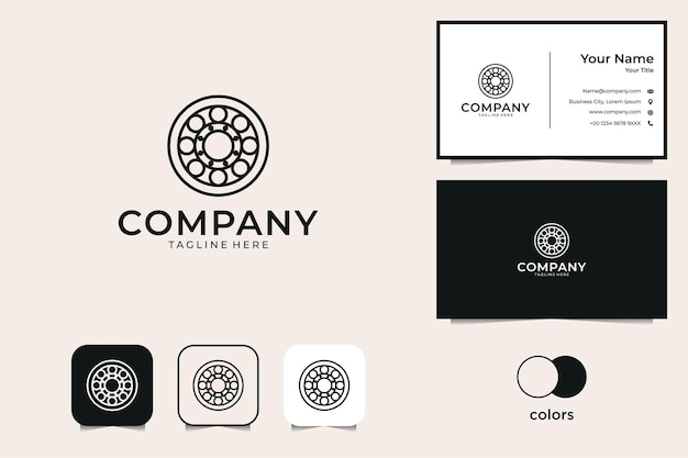 Geometry circle logo and business card
