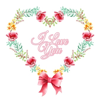 Geometry love floral wreath