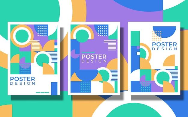 Геометрия минималистичный художественный плакат с простой формой и фигурой. абстрактный векторный шаблон дизайна в скандинавском стиле для веб-баннера, бизнес-презентации, фирменного стиля, тканевой печати, обоев