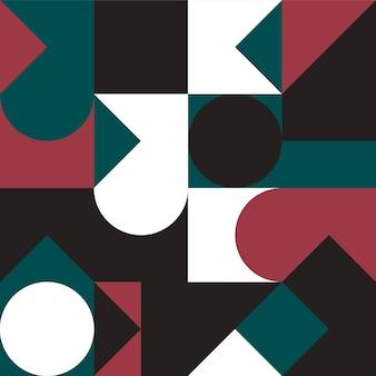 간단한 모양과 그림 추상적 인 벡터 패턴 디자인을 가진 기하학 최소한의 아트웍 포스터