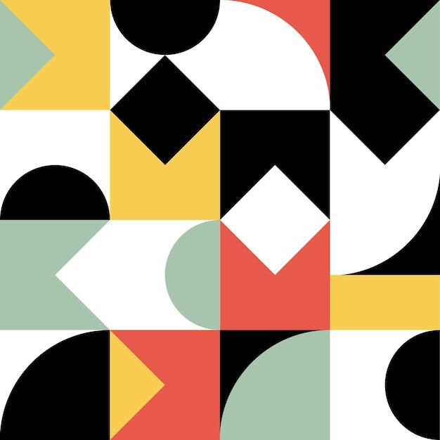 Геометрия минималистичный художественный плакат с простой формой и фигурой абстрактный векторный дизайн рисунка