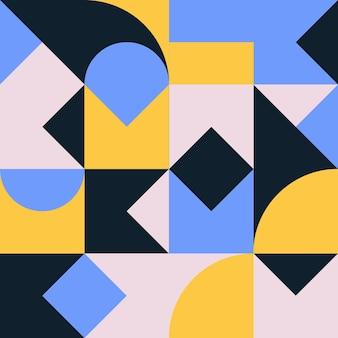 シンプルな形と図の幾何学ミニマルなアートワークポスター抽象的なベクトルパターンデザイン