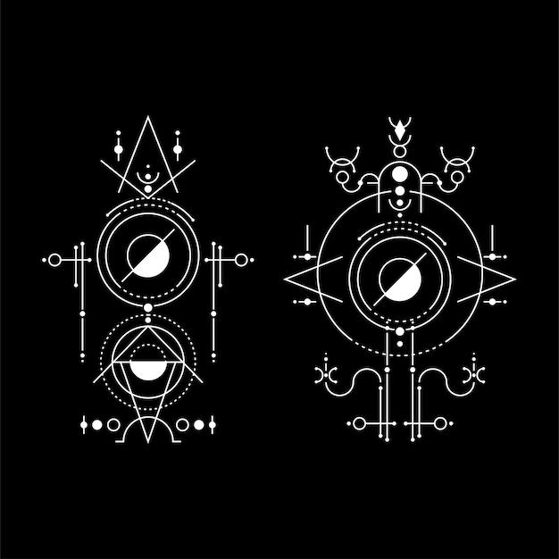 Geometry moon space symbol