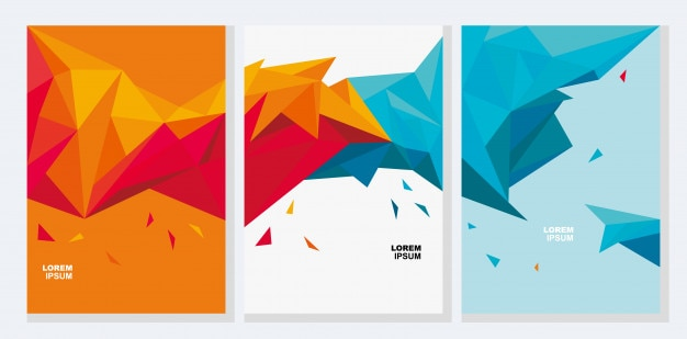 Geometry polygons. vector art for background.