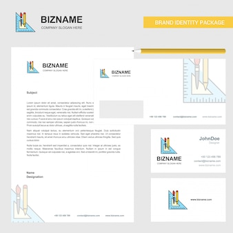 Geometry scale business letterhead