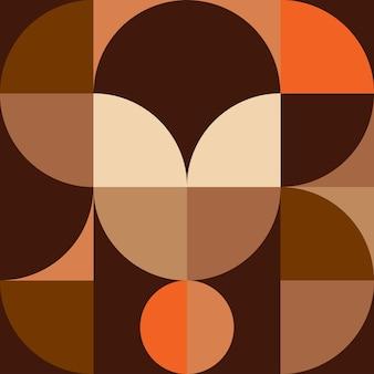 幾何学壁アートヴィンテージ背景。抽象ミニマル
