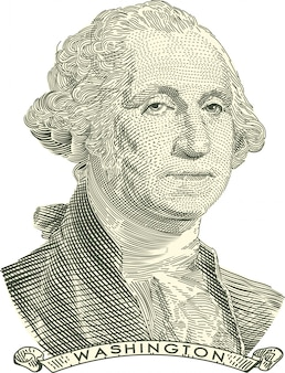 George washington engraved portrait