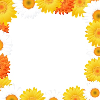 Gerbers frame, isolated on white background, ..
