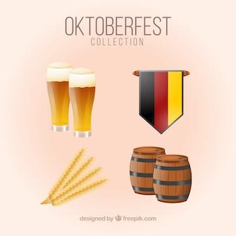 독일 맥주와 깃발