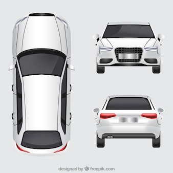 German car in different views