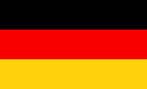 German flag - original colors and proportions. germany vector illustration eps 10