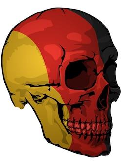 German flag painted on a skull