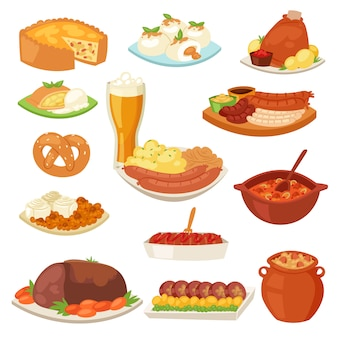Немецкая кухня традиционная кухня немецких и приготовленных мясных колбас на обед