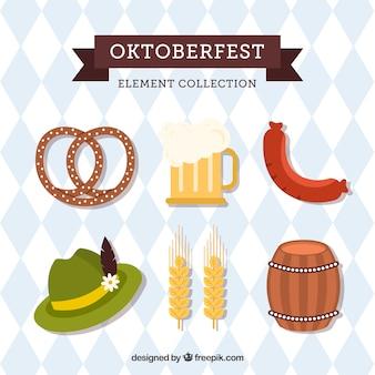 Немецкая шляпа, пиво и еда