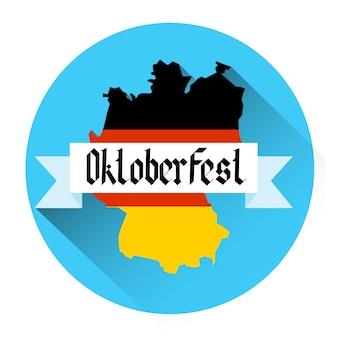 German map beer oktoberfest festival holiday icon