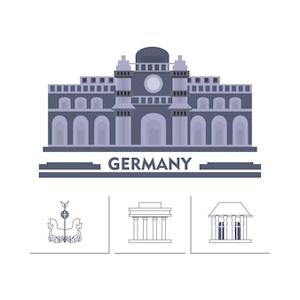 German parliament building and iconics buildings around