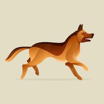 독일 셰퍼드 개. 동물 디자인