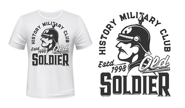 ドイツの兵士のtシャツのプリント