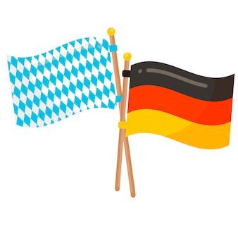 독일과 바바리아 플래그