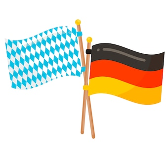 Germany and bavaria flags