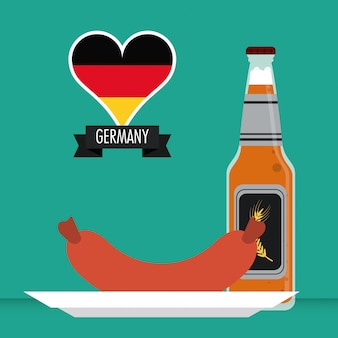 Germany. culture icon. illustration