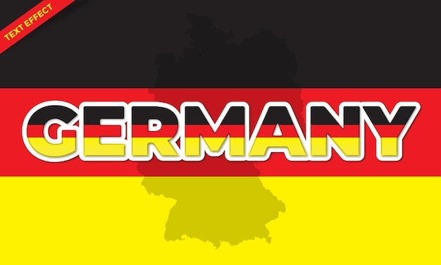 Дизайн текстового эффекта дня германии