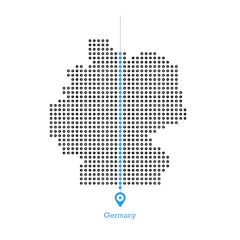 Germany doted map design vector
